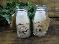 Vanilla candle Vintage Style School Milk Bottle Candle. Farmers Market.