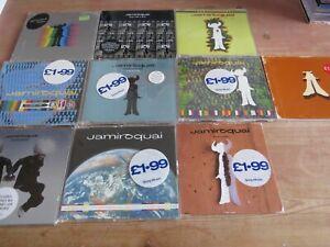 JAMIROQUAI  -  LOT OF 10 CD SINGLES. LISTED
