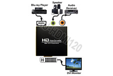 HDMI To DVI-D Video + Coax S/PDIF Digital Audio + 3.5mm Analog Audio Extractor