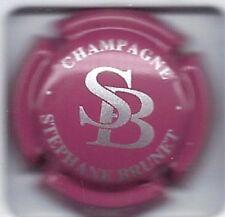 Capsule de champagne BRUNET STEPHANE N°5a Rose et argent