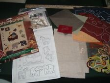 New listing Vtg 90s Bucilla Patch Works Felt Applique Embroidery Noah Ark 2x2 Banner Kit#Lk5
