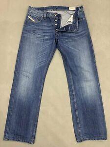 "DIESEL Mens LARKEE Blue Denim Straight JEANS Size Waist 33"" - Leg 31"""