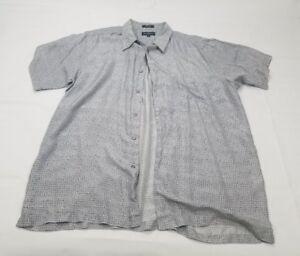 Mens Marc Edwards 100% silk size XL Short Sleeve Summer Wear 1246