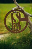 Schalke 04 S04 Logo Edelrost Metall Fanartikel Fußball Schild Wandschild