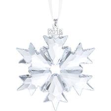 2018  Swarovski  Crystal  Annual  Snowflake  Large  Christmas  Ornament  5301575