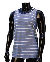 Vans skateboard classic marcel dep blue strips mens t shirt Muscle tank top