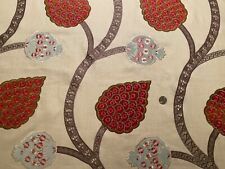 2yd BRAQUENIE Pierre Frey LE VIZIR Hand Embroidered Velvet Appliqué Linen Fabric