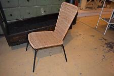 Design Stuhl Sessel chaise Rattan 1960ies  mid century