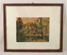 Alfred Ziethlow - Häuser im Lipperland - Aquarell 1944 Expressionismus - Rahmen