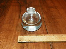 Vintage Clear Crystal Glass Inkwell - No Lid