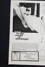 1956 Gotham gold stripe women's stockings legs vintage fashion ad