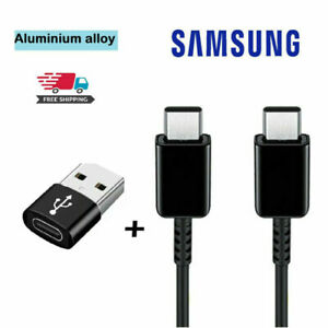 GENUINE SAMSUNG TYPE C TO C NOTE 20 5G S20 ULTRA SUPER FAST USB CHARGER CABLE UK