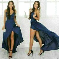 Elegant Women Formal V-Neck Sleeveless Bridesmaid Prom Party Long Maxi Dress