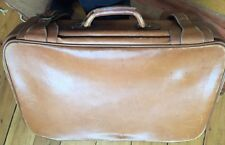 Vintage Leather Luggage : Three (3) Large Pieces : Beautiful!