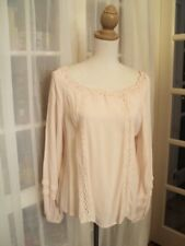 * wish cream crepe peasant top not worn 14    so divine