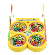 Electric Rotating Magnetic Magnet Fish Go Fishing Game Kid Child Educational Toy