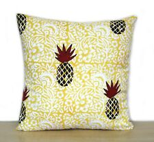 Indian Hand Block Print Cotton Square Pillow Case Decorative Sofa Cushion Cover