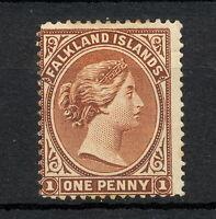 """(NNAU 132) FALKLAND ISLANDS 1878 MH MICH 2 i WMK Wz Letter """"N"""" CV 3800 EUR"""