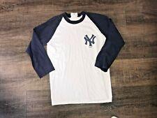 Vintage Adidas New York Yankees 3/4 Sleeve Baseball T-Shirt Size Adult Medium