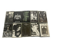 Lot Of 10xAudio Cassette DEMO Tapes/Black Metal/USED AS BLANKS