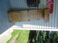 """vintage,  wooden  snow  toboggan   48 """"   nice  # 7620"""