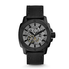 Fossil Men's Automatic Black Leather Strap Mens's Watch ME3134
