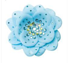 Go Girl Usa Dance Blue Silk  Flower Hair Clip New!