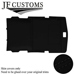 BLACK  STITCH LUXE-SUEDE SUNROOF HEADLINER COVER FITS HUMMER H2 02-09 STYLE 1