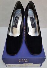 STUART WEITZMAN BLACK VELVET PUMPS - Women's Size 7 M - with Box (Retail $160)