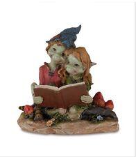 PIXIES CON LIBRO 9,5 CM Les Alpes Collezionismo Elfi Troll Magia Fate 027-90787