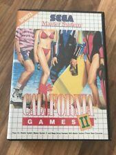 Master System:     CALIFORNIA GAMES 2     en boite      PAL EUR