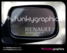 RENAULT SPORT MIRROR MEGANE CLIO 172, 182, 197 LOGO DECALS STICKERS GRAPHICS x 3