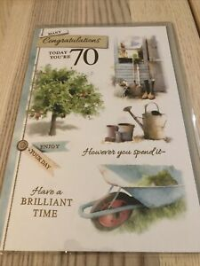 Many Congratulations Today You're 70  Birthday Card (male)