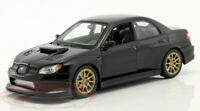 SUBARU IMPREZA WRX STI 1:24 Scale Diecast Model Toy Car Miniature Black