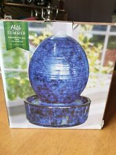Embossed Oval Ball Table Top Fountain