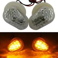 White Flush Mount LED Turn Signals Lights Indicator For Yamaha YZF R1 R6 R6s