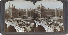 Paris Palais de Justice Photo Stéréo Stereoview Vintage