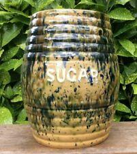 More details for  antique kirkcaldy rosslyn large pottery sugar cannister  scottish
