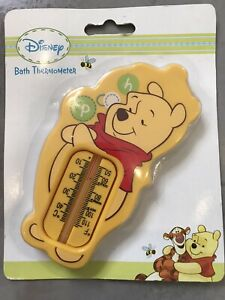 WINNIE THE POOH BABY BATH THERMOMETER TEMPERATURE SAFETY YELLOW BRAND NEW DISNEY