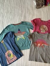Mini Boden Girls Size 5 - 6 Tops Lot Of 4 T-shirts Long Sleeve
