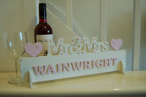 Mr & Mrs Top Table MR AND MRS Wedding Decoration Sign PERSONALISED GIFT