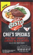 BISTO CHEFS SPECIALS BEEF GRAVY WITH CRACKED BLACK PEPPER  3 x 25G
