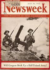 Newsweek 1941 July 28   Congress: Half Trained Army