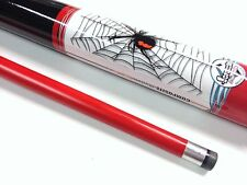 "RED BACK SPIDER Pool Snooker Billiard Cue Stick Graphite 57"" 2 Piece 9mm tip"