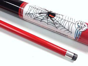 "RED BACK SPIDER Pool Snooker Billiard Cue Stick Graphite 57"" 2 Piece 9mm tip"