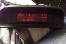 peugeot 307  digital clock display
