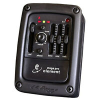 LR Baggs Stagepro Element Preamp EQ Chromatic Tuner w/ Acoustic Guitar Pickup