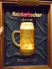 KNICKERBOCKER LIGHTED/BUBBLING BEER SIGN -  LIGHT'S UP - 1970 from New York