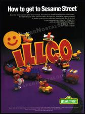 ILLCO - SESAME STREET__Original 1991 Trade print AD / Toy Industry promo ad__CTW