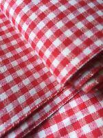 Ballen traumhafter alter Halbleinen/Baumwoll Stoff Karo rot/weiß  335 x 100 cm